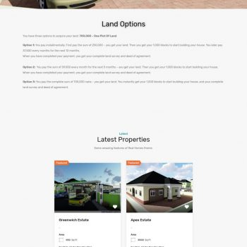Olak Realtors Website