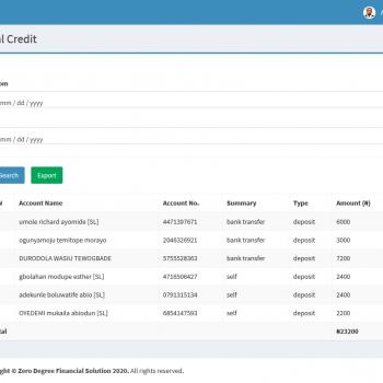 Thezerodegree E - Banking Platform